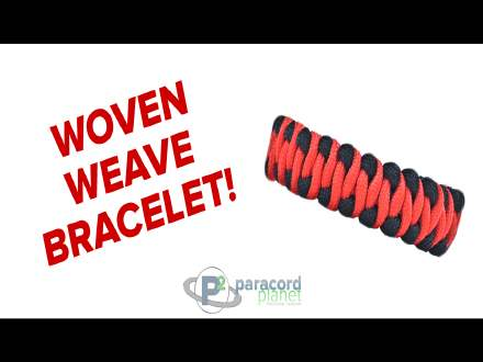 Tutorial for a Woven Weave paracord bracelet video