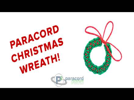 Easy Paracord Christmas Wreath Tutorial Video