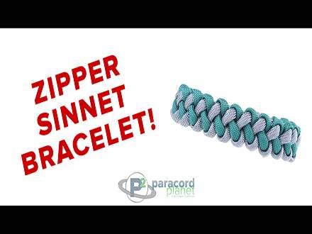 Zipper Sinnet Paracord Bracelet Video Tutorial
