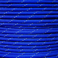 Electric Blue - 550 Paracord with Reflective Tracers