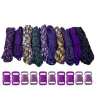 Purple - Combo Kit (Paracord & Buckles)