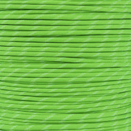 Neon Green - 550 Paracord with Glow in the Dark Tracers