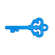 "Key ""Love"" Pendant - Blue"