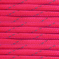 Neon Pink with Reflective Tracers 550 Paracord (7-Strand) - Spools