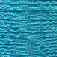 Reflective Neon Turquoise 550 Paracord (7-Strand) - Spools