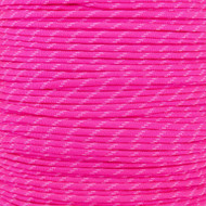 Neon Pink with Glow Tracers 550 Paracord (7-Strand) - Spools