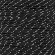 Black 550 Paracord (7-Strand) with Glow Tracers - Spools