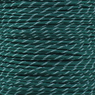 Dark Green 550 Paracord (7-Strand) with Glow Tracers - Spools