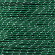 Kelly Green - 550 Paracord with Glow in the Dark Tracers