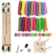 "Paracord Crafting Kit w/ 10"" Pocket Pro Jig & Monkey Form - Big Neon"