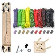 "Paracord Crafting Kit w/ 10"" Pocket Pro Jig & Monkey Form - Zombie"