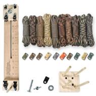"Paracord Crafting Kit w/ 10"" Pocket Pro Jig & Monkey Form - Camo Man"