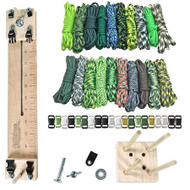 """Paracord Crafting Kit w/ 10"""" Pocket Pro Jig & Monkey Form - Green Giant"""