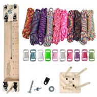 "Paracord Crafting Kit w/ 10"" Pocket Pro Jig & Monkey Form - Tie Dye"