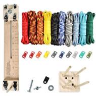 "Paracord Crafting Kit w/ 10"" Pocket Pro Jig & Monkey Form - Elements"