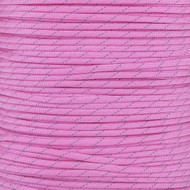 Rose Pink 550 Paracord with Reflective Tracers (7-Strand) - Spools