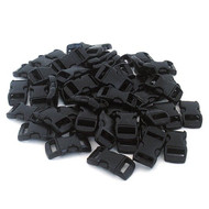 20 Pack of 3/8 Inch Contoured Buckles