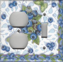 Blueberries & Butterflies - Double Combo Outlet & Switch