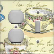Tea for Two Double Combo Outlet & Switch