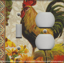 Fall Rooster Double Combo Switch & Outlet