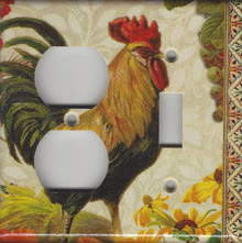 Fall Rooster Double Combo Outlet & Switch