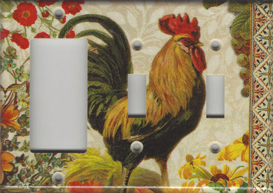 Fall Rooster Triple Combo GFI/Rocker & Switch & Switch