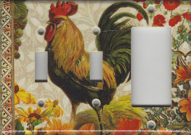 Fall Rooster Triple Combo Switch & Switch & GFI/Rocker