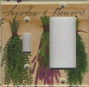 Herbs & Flowers - Double Combo Switch & GFI