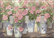 Roses in Blue Pails - Triple Switch