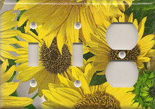 Sunflowers - Triple Combo Switch & Switch & Outlet