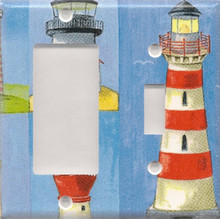 Many Lighthouses - Double Combo GFI & Switch