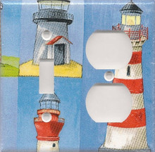 Many Lighthouses - Double Combo Switch & Outlet