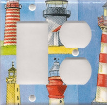 Many Lighthouses - Double Combo GFI & Outlet