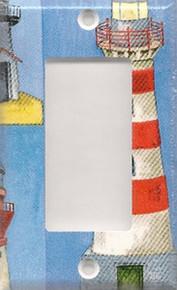 Red & White Lighthouse - GFI/Rocker