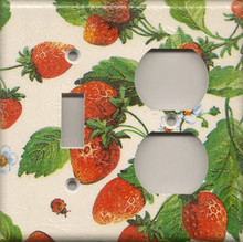 Strawberries - Double Combo Switch & Outlet