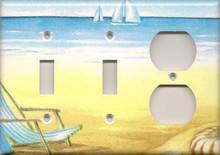 Beach Chair - Triple Combo Switch & Switch & Outlet