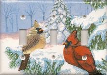 Winter Cardinals - Triple Switch