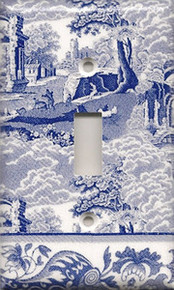 Blue Toile - Single Switch