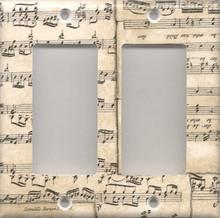 Musical Notes - Double GFI/Rocker