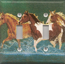 Horses Running in Water - Double Switch