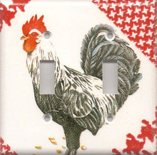 Black & White Rooster - Double Switch