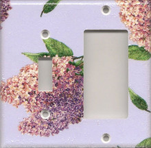 Lilac Branch - Double Combo Switch & GFI