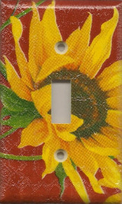 Sunflowers - Red - Single Switch