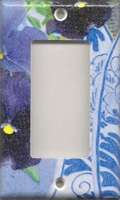 Purple Pansies with Plate - GFI/Rocker