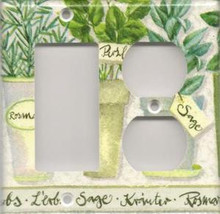 Herbs - Double Combo GFI & Outlet