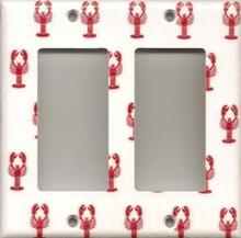 Little Red Lobsters - Double GFI/Rocker