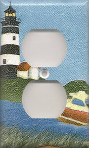 Black Lighthouse with Boat - Outlet