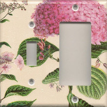 Pink Hydrangea - Double Combo Switch & GFI/Rocker