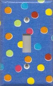 Blue Polka Dots - Single Switch