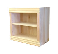 "24""W x 23""H x 10""D Solid Pine Wood Adjustable Shelf Bookcase"